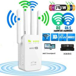 1200Mbps 2.4/5G Wireless Dual Band Range Extender WiFi Repea