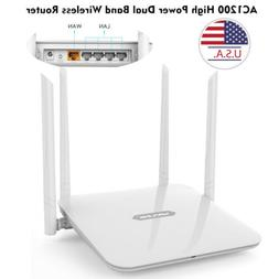 1200Mbps Gigabit WLAN WIFI Router Dual Band 2.4GHz/5GHz 4xLA