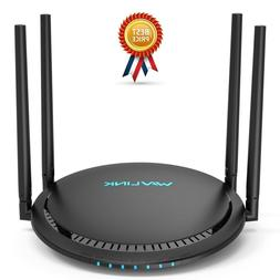 1200Mbps Smart WiFi Router, WAVLINK AC1200 Dual-Band Gigabit