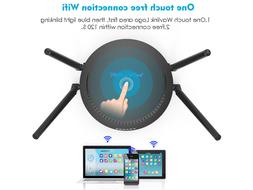 1200Mbps WiFi Router,Dual-Band 2.4G& 5G WirelessTouchlink Sm