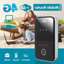 150Mbps Portable Black 4G LTE WiFi Wireless Router Mobile Br