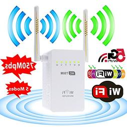Ocamo 750Mbps 2.4/5GHz Double Channel Dual Band Wireless Rep