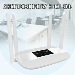 300Mbps Unlocked 4G LTE CPE Wifi Router with 4 Antennas & SI