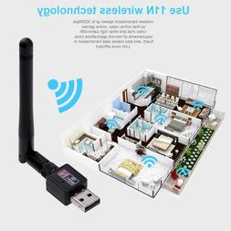 300Mbps USB2.0 Wifi Router Wireless Adapter Network LAN Card