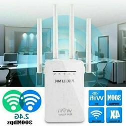 300Mbps WiFi Range Extender Repeater Wireless Amplifier Rout