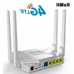 KuWFi 3G/4G LTE Wifi Router 1200Mbps OpenWrt Wireless Router