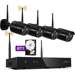 xmartO 1080p HD Wireless Security Camera System 4 Channel NV