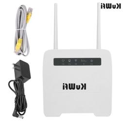 KuWfi 4G LTE Router 150Mbps Wireless CPE Router 3G/4G SIM Ca