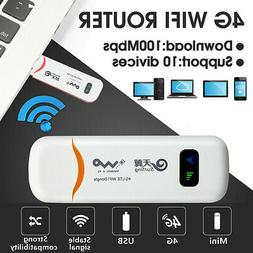 4G LTE USB Dongle WiFi Router Hotspot Mobile Broadband Modem