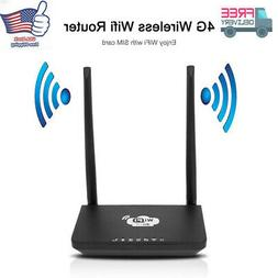 4G Wireless Wifi Router 300Mbps Mobile Hotspot With SIM Card