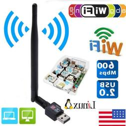 600mbps usb wifi router wireless adapter pc