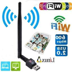600Mbps USB Wifi Router Wireless Adapter PC Network 5 Ant Ca