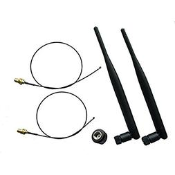 2x 6dBi Dual Band WiFi Antenna 2.4GHz 5GHz with RP-SMA Conne