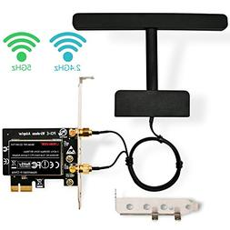LTERIVER 802.11 AC 1200Mbps 2.4GHz 5GHz Dual Band PCI Expres