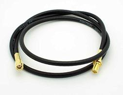 Low Loss RG58 1meter RP-SMA Male to Female Antenna Extension