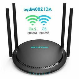 AC1200 Smart WiFi Router -  1200Mbps Touch Link Smart Dual B