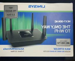 Linksys AC2200 Tri-Band Mesh WiFi Router  2.2 Gbps 4K HD Fre