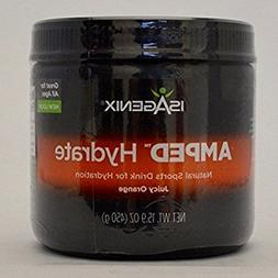 Isagenix AMPED Hydrate Natural Sports Drink Mix Juicy Orange