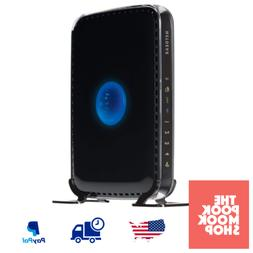 Black Dual Band WiFi Router Downloads Media Online Internet