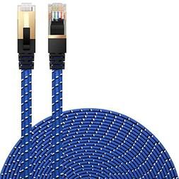 Cat 7 Ethernet Cable, DanYee Nylon Braided 3ft 10ft 16ft 26f