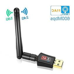 Warmstor 600Mbps Dual Band  Wireless USB Wifi Adapter, Anten