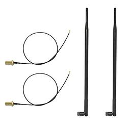 HUACAM 9dBi Omni WiFi Antenna with RP-SMA Connector for Wire