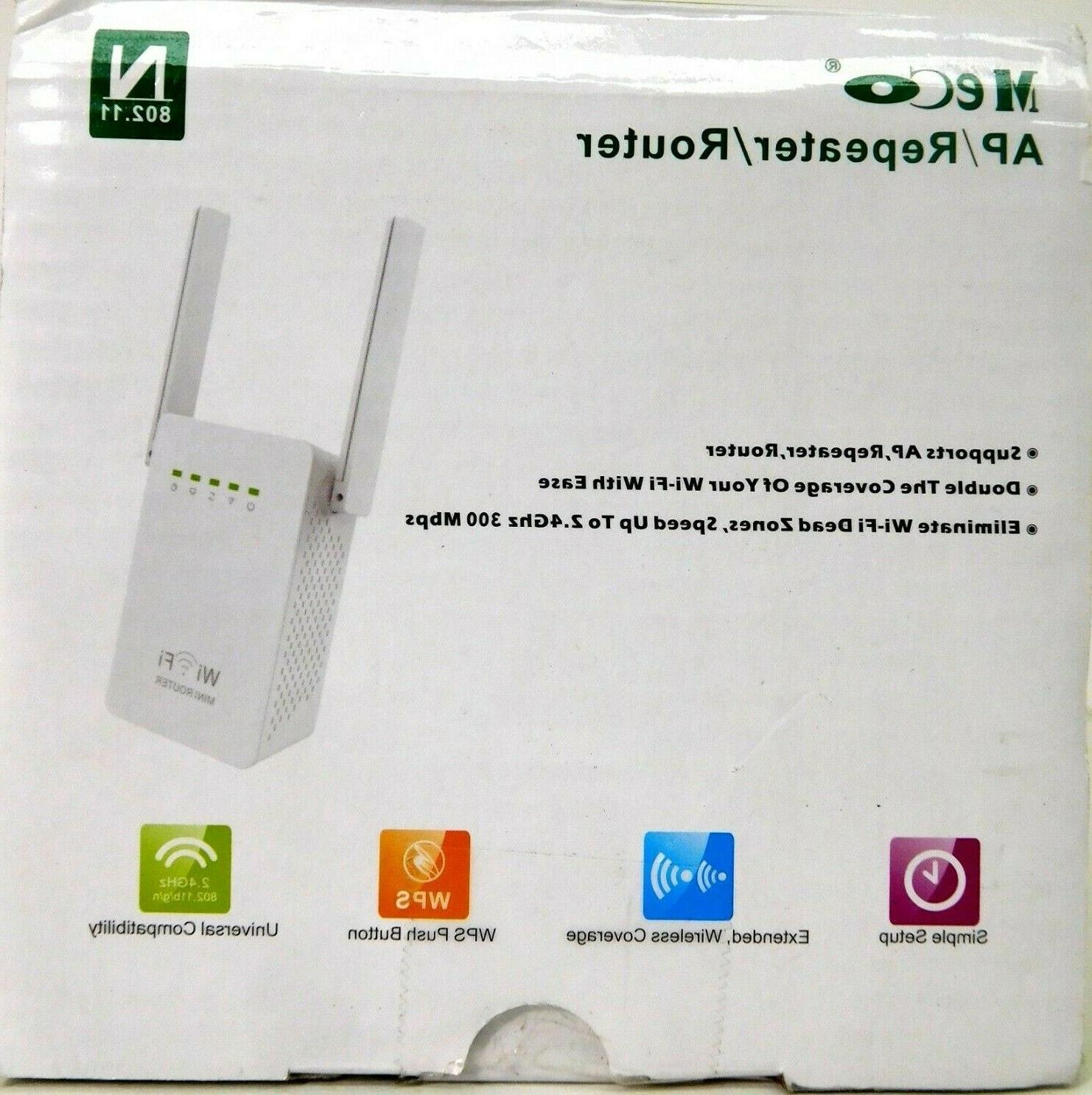 Meco 2.4Ghz 300Mbps Wireless AP Extender Mini Router