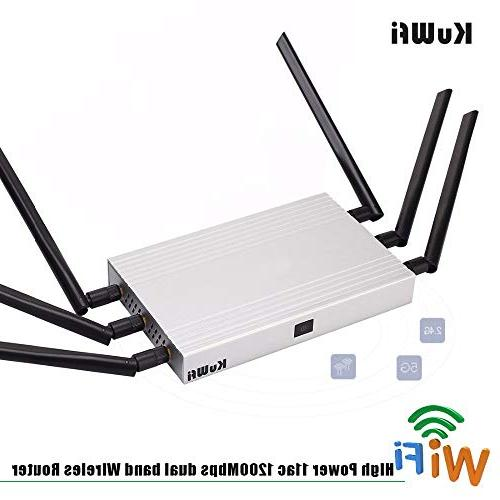 KuWFi Router Router Gigabit Than 100Users Use Through Walls 2000mW RAM for