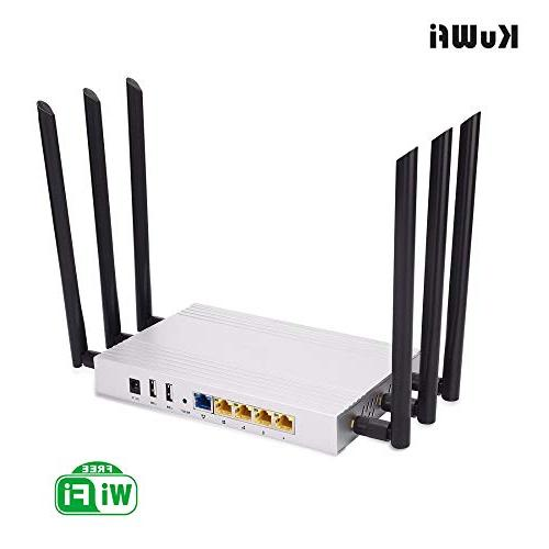 KuWFi Router Gigabit Long Than 100Users Use Through High DDR2 RAM for