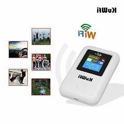 KuWFi Router with sim Support LTE B1/B3/B5 802.11 b/g/n