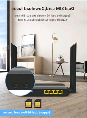 KuWFi 4G LTE Router Wireless 300Mbps use in