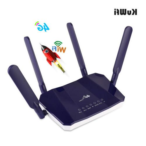 KuWFi CPE Router with SIM up to Users