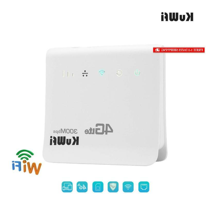 Kuwfi Wifi Router Unlocked 300Mbps 4G Cpe Router