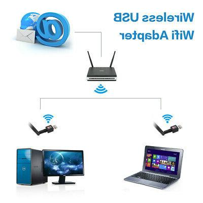 600Mbps Wireless USB Router Adapter PC LAN Dongle + 5