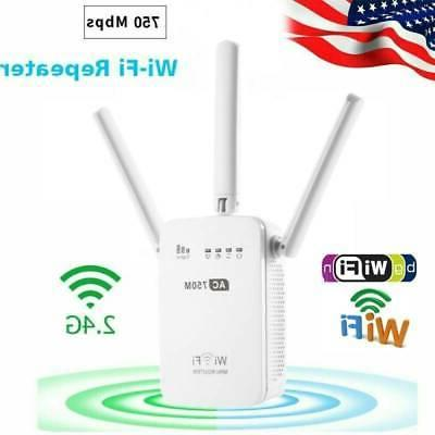750Mbps Wifi Repeater Wireless-AC Range Extender Signal Boos