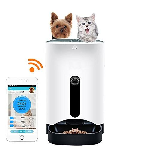 QTMY Large Wifi Remote Control Pet Smart Automatic Feeder wi