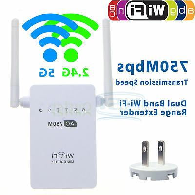 AC 750Mbps Dual band Repeater 5G