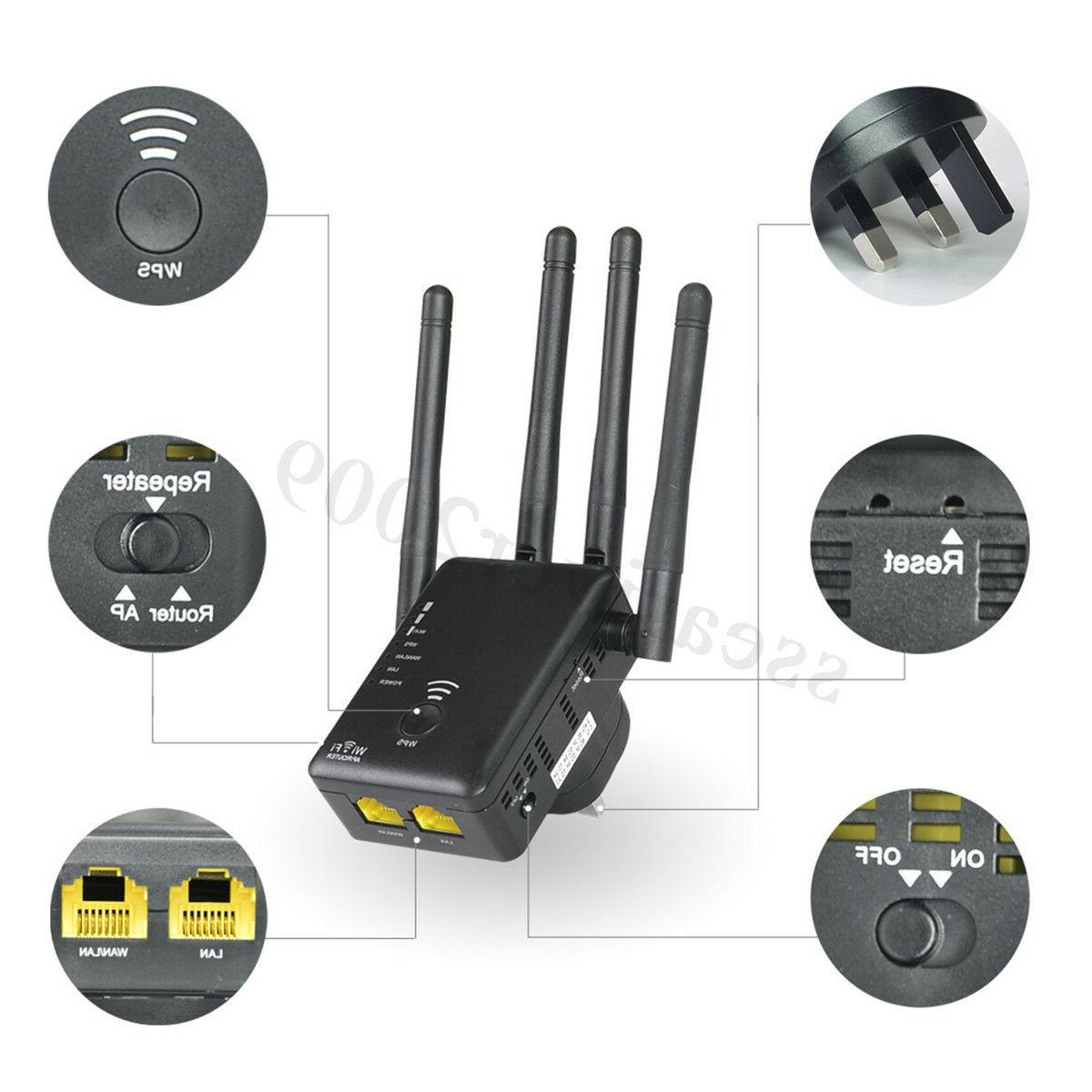 Wavlink Dual Band Wifi Repeater Router 5G Wireless-N Range