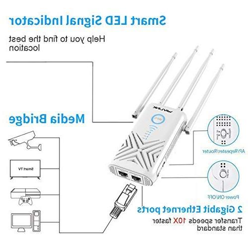 WAVLINK ARIEAL - AC1200 Gigabit Range Extenders Booster 2.4Ghz Dual Wi-Fi Repeater/Wireless Point Works w/Any Router,
