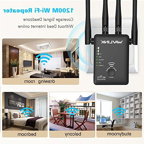 WAVLINK Band WiFi Range Extender, 5Ghz Booster/Repeater/Access with Ethernet Port/External Black