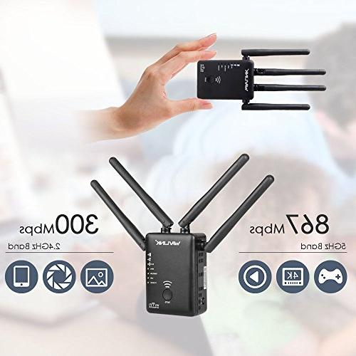 WAVLINK 1200Mbps WiFi 5Ghz Booster/Repeater/Access Point/Router with Ethernet Port/External Antenna - Black