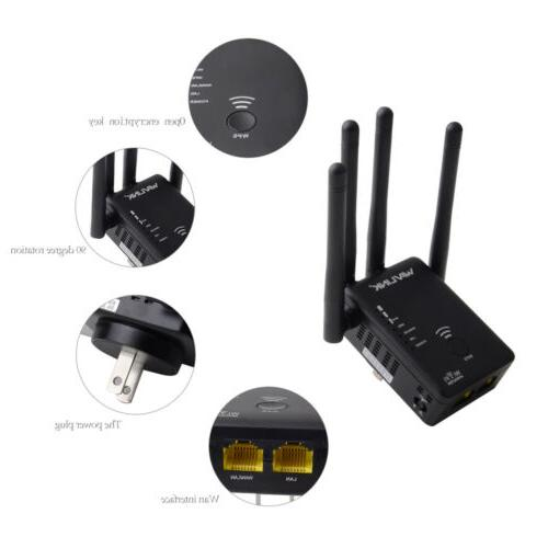 AC1200 Repeater Wireless Extender Booster Band Gigabit