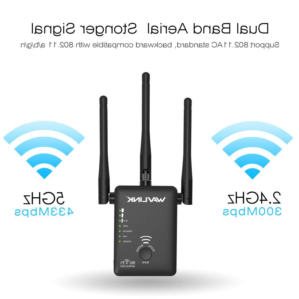 Wavlink AC750 Dual Band WiFi Repeater for Signal Booster&Wir