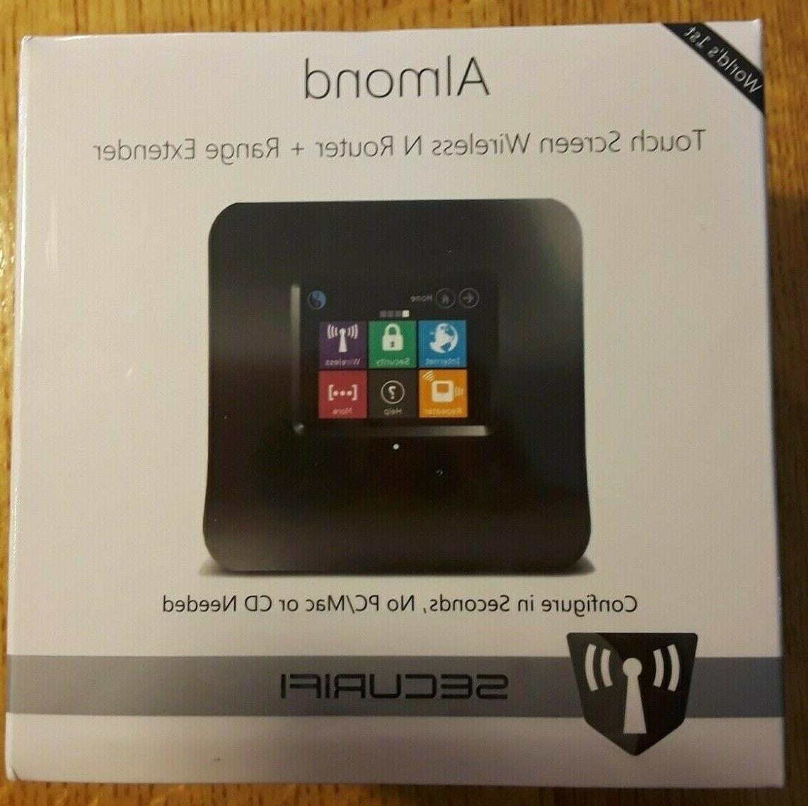 almond touch screen wireless n router range