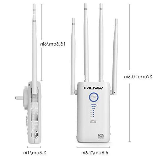WAVLINK AC1200 Extenders 2.4+5Ghz Band Amplifier Repeater/Wireless AP 3 1, Works w/Any Router, Upgrade Version