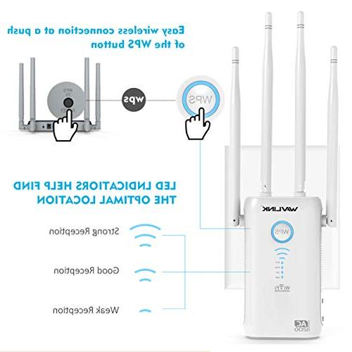 AC1200 Extenders Signal 2.4+5Ghz Dual Band Amplifier Router/Access Point Works w/Any Router, Version