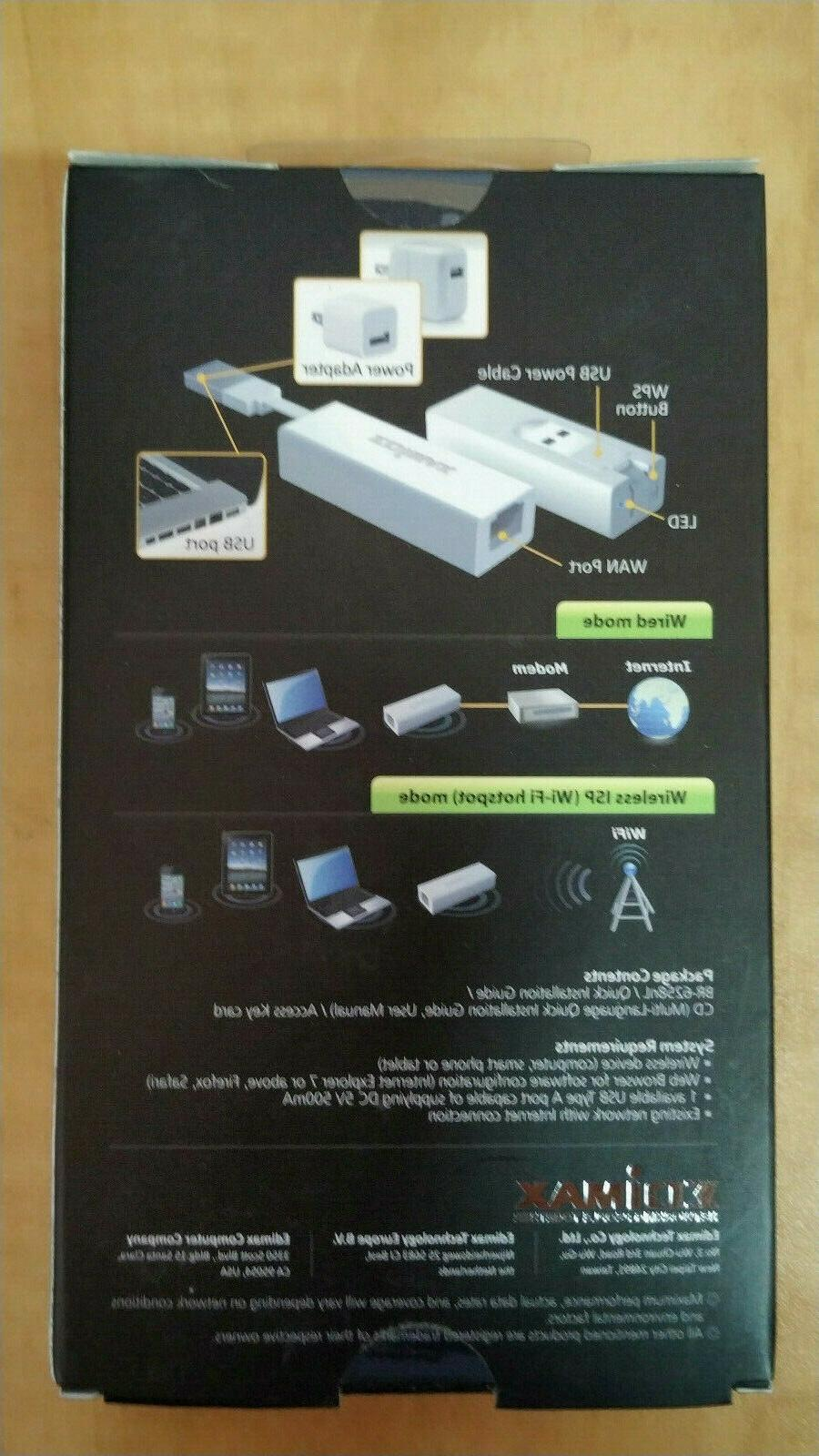 EDIMAX WiFi Travel Router Ethernet