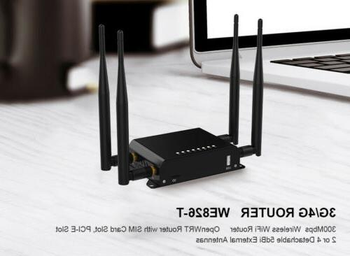 Cioswi 300Mbps Router 4G Modem Wifi Router