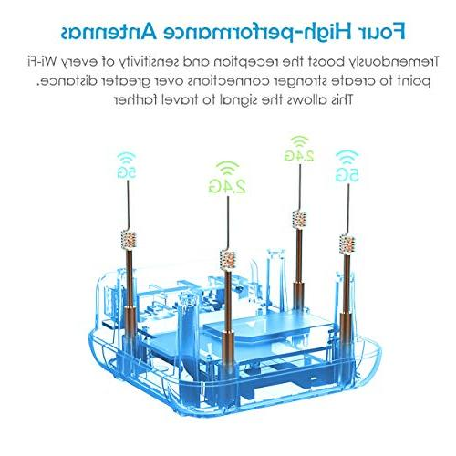 WAVLINK Home WiFi System , Band 2.4Ghz + 5Ghz Smart Wireless System Touchlink, Coverage