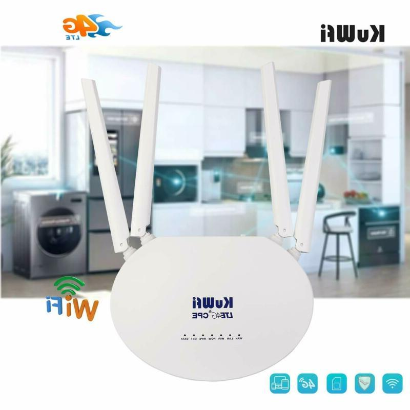 KuWFi Router Unlocked 4G WiFi Internet Router Card